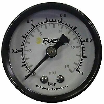 "Fuelab 1.5"" Carb Fuel Pressure Gauge, Dual BAR/PSI Scale 0-15psi - 715xx Series"