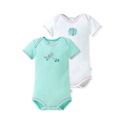 Schiesser Baby Body Lot Fille Monde Sous-marin Lot Double