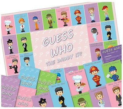 Baby Shower Party Game  -  GUESS WHO THE DADDY IS?  -20 Player - FREE UK POSTAGE