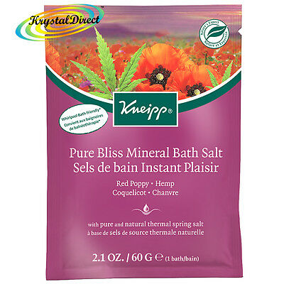 Kneipp Pure Bliss Mineral Bath Salts Sachet 60g RED POPPY & HEMP