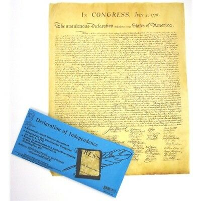 Historic Document DECLARATION OF INDEPENDENCE Genuine Parchment new 37277