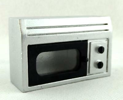 Melody Jane Dolls House Miniature Modern Kitchen Appliance Silver Microwave