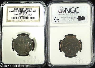 NGC CERTIFIED 1808 ADMIRAL GARDNER Genuine Shipwreck Treasure Coin EAST INDIA CO