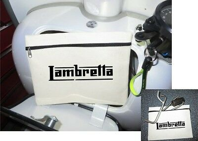 Scooter Tool Bag (NO TOOLS) 21 x16cm Fits in Glove Box - LAMBRETTA LOGO Freepost