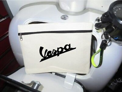 Scooter Tool Bag (NO TOOLS) 21 x16cm Fits in Glove Box - VESPA LOGO Freepost