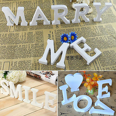 26 Wood Wooden Alphabet Letters Words Free Standing Signs Home Decor Decoration