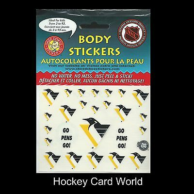 """(HCW) Pittsburgh Penguins NHL Licensed Logo Body Decal Sticker 5""""x7"""" Sheet"""