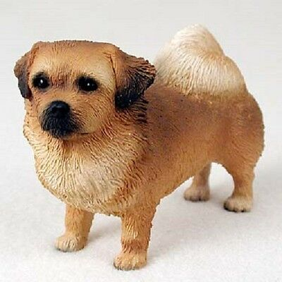 TIBETAN SPANIEL Dog HAND PAINTED FIGURINE Resin Statue COLLECTIBLE puppy NEW