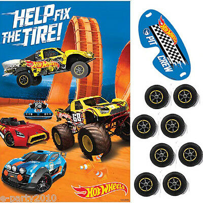 HOT WHEELS Wild Racer PARTY GAME POSTER ~ Birthday Supplies Decorations Activity