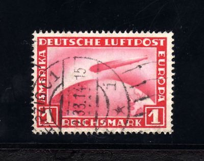 4087-GERMAN EMPIRE-Yv.35.Used.1928.GRAF ZEPPELIN POLAR TRIP.DEUTSCHES REICH.Luxe
