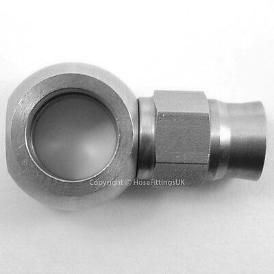 AN-3 to 7/16 UNF STRAIGHT STAINLESS STEEL BANJO EYE Brake Clutch Hose Fitting S