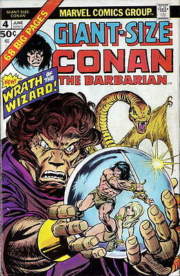 GIANT-SIZE CONAN #4 F, The Barbarian, Barry Smith Reprint, Marvel Comics 1975