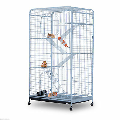 "PawHut 55"" Portable Small Pet Cage Hamsters Bunny Guinea Pig Steel Wire Playpen"