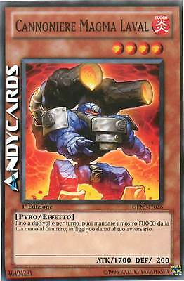 3x Cannoniere Magma Laval ☻ Comune ☻ GENF IT026 ☻ YUGIOH ANDYCARDS
