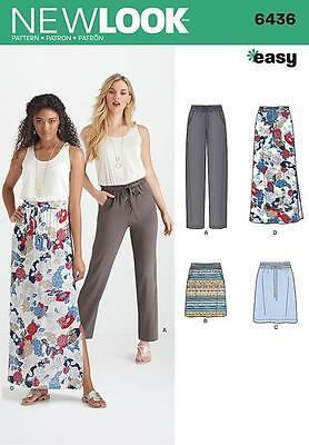 New Look Sewing Pattern Misses' Skirt & Trousers Pants  Size 8 - 20  6436