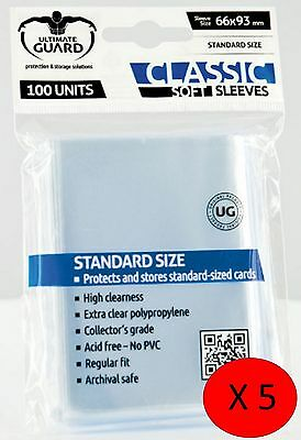 500 Soft Sleeve Deck Protectors for MTG / Match Attax / Sports Cards / Pokemon