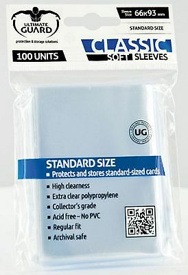 100 Soft Sleeves Deck Protectors for MTG / Match Attax / Sports Cards / Pokemon