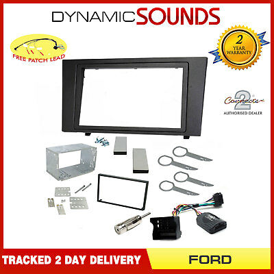Car Stereo Double Din Fascia & Steering Wheel Fitting Kit For Ford Mondeo 03-07