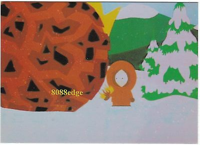 """1998 Comic Images South Park """"the Many Deaths Of Kenny"""" #omni 3 Foil Insert Card"""