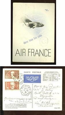 France - Congo,  Air France promotional postcard, seasonal discount rate 1936