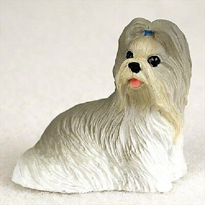 SHIH TZU mixed TiNY DOG Figurine HAND PAINTED MINIATURE Mini COLLECTIBLE puppy