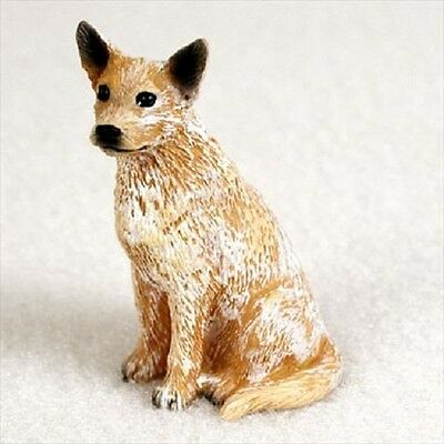 AUSTRALIAN CATTLE DOG Red Heeler brown puppy TiNY FIGURINE MINIATURE Mini Statue