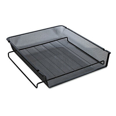 Universal 20004 Mesh Stackable Front Load Tray Letter Black