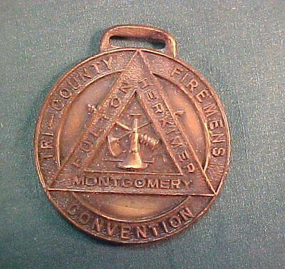 Vintage Tri County Firemans Convention Montgomery Fulton Herkimer New York Medal