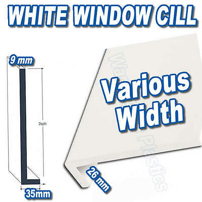 Upvc Window Cill / Sill End Caps For Cill Upvc White • £2.20 ...