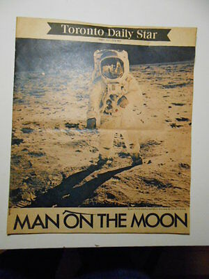 Man on the Moon Toronto Star newspaper rare Insert section Aug.8,1969