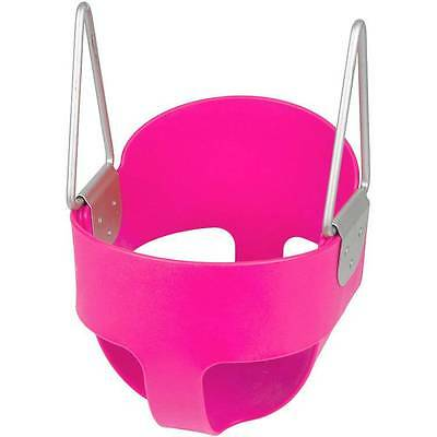 Swing Set Stuff Highback Full Bucket Swing Seat Pink With Chains And Hooks 0050