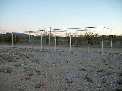 "60' Baseball / Softball Straight Leg Batting Cage 3/4"" Fittings Only"