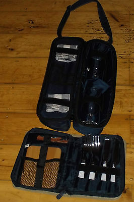 Picnic Set Insulated Backpack Kookaburra Wine Cooler Glass Cheese Board Cutlry