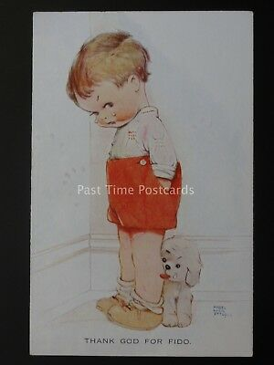 Comic - Little Boy & Dog THANK GOD FOR FIDO Mabel Lucie Attwell by Valentine 885