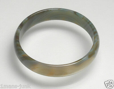 Large Antique Jade Jadeite? Bangle Chinese Sewing Basket Betty Lou Collection 33