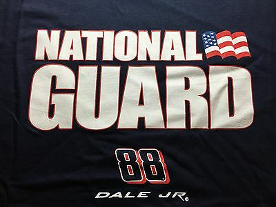 787ac06e407 Dale Earnhardt JR T-Shirt National Guard Nascar Navy Blue Adult