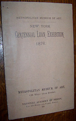 1876 Centennial Loan Exhibition Art Painting Catalog Philadelphia Expo Worlds
