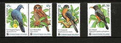Christmas Island 2002 Endangered Birds Set 4