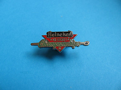 Heineken  Lager * Ice Hocky Championships * Pin Badge. Enamel. VGC. Unused.