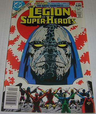 LEGION OF SUPER-HEROES #294 (DC Comics 1982) GREAT DARKNESS SAGA (VF-) DARKSEID