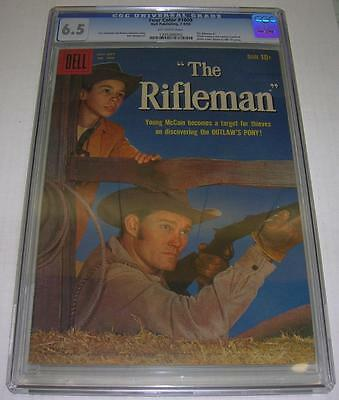 FOUR COLOR #1009 RIFLEMAN #1 CGC 6.5 UNIVERSAL GRADE (Dell 1959) Chuck Connors