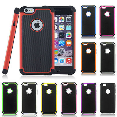 Armor Rubber Hybrid Shockproof Hard Bumper Case Cover For iPhone 5 5s /6 /6 Plus