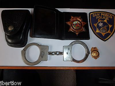 San Pablo Mayor Gold Badge Council Member Police Patch Handcuffs Rare Collection