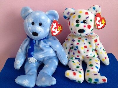 Ty Beanie 1999 Holiday Teddy and Ty 2K
