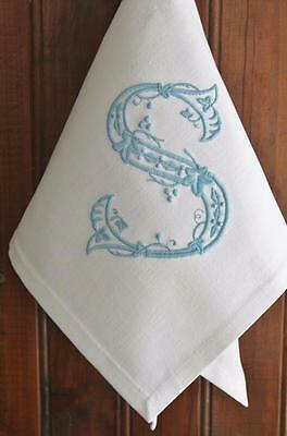 Monogrammed Personalized Embroidered Dinner Cloth Table Linen Napkins Serviettes