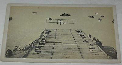 """Ely And the Aircraft Carrier"" Vintage Postcard"