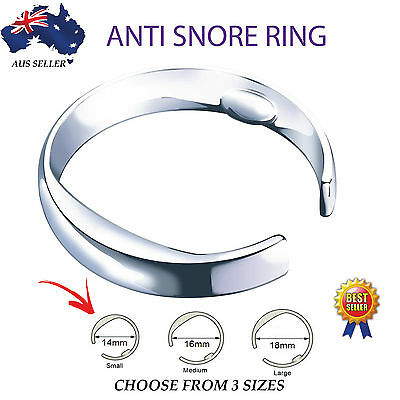 ANTI SNORE RING -Stop Snoring - Acupressure Sleep Aid ~3 SIZES Worldwide Shiping
