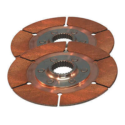 "Tilton 7.25"" Sintered Twin Clutch Plate Drive Plate Pack 1 x 22   64185-2-AA-29"
