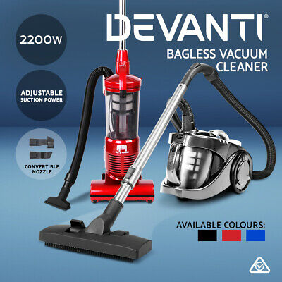 Devanti Bagless Vacuum Cleaner Cyclone Cyclonic Upright HEPA Filtration 2800W