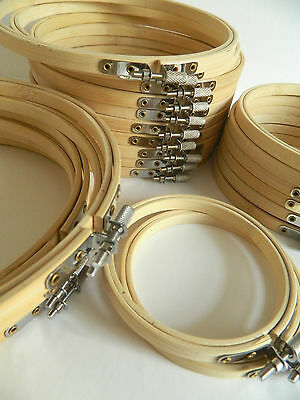 Wooden Embroidery Hoops Rings Frames - for embroidery, cross stitch etc